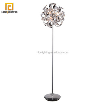 Interior Decoration Chrome Chandeliers Crystal Floor Lamp Import ...