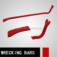 high quality drop-forged different kinds of wrecking bar tools crow bar long pry bar