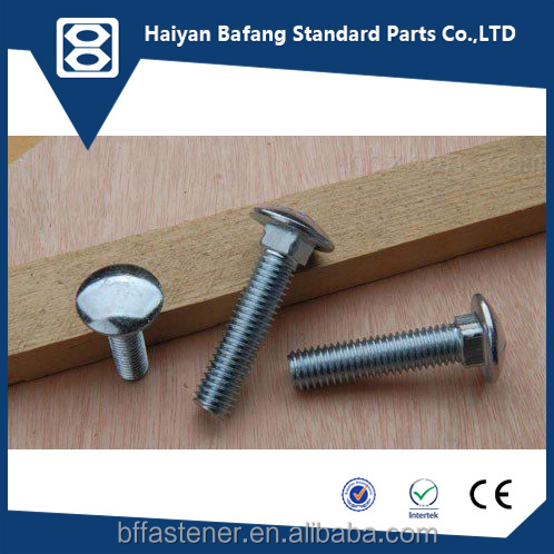Metric Fasteners DIN603 High quality manufacture supply carriage bolts