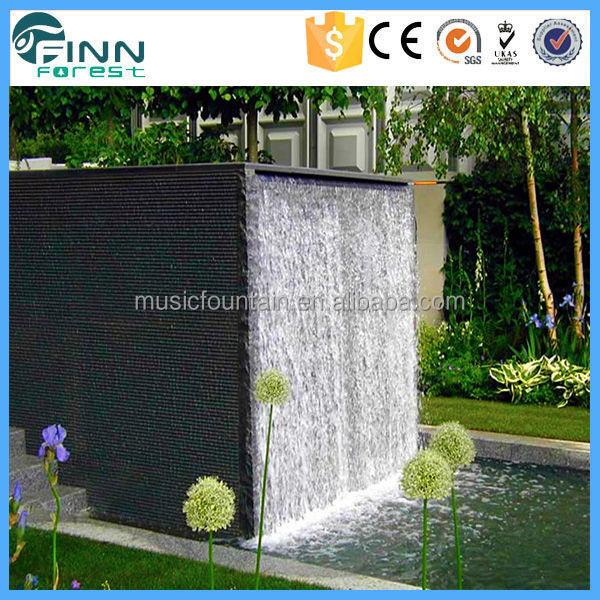 jardin paysager couleur modifiable d coration int rieure qui coule cascade de verre ext rieure. Black Bedroom Furniture Sets. Home Design Ideas