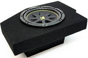 "ASC Package Dodge Ram 02-12 Quad Cab Truck Single 10"" Kicker C10 Sub Box Enclosure 300 Watts Peak"