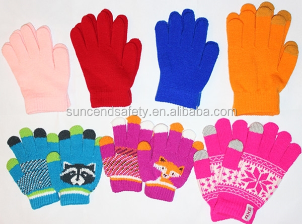 Ladies and Children Touch Screen Napping Gloves Winter Warm Gloves for all Smart Phones Tablets