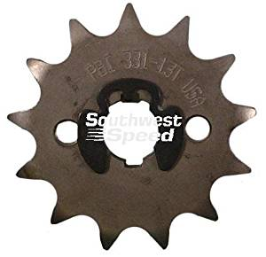 NEW SOUTHWEST SPEED 15 TOOTH FRONT COUNTER-SHAFT HONDA MOTORCYCLE SPROCKET, 428 CONVERSION, 6 SPLINE, 2004-2009 HONDA CRF-100F AND 428 CONVERSION FOR Z-50, ATC-70, CT-70, CR-80,KARTING, ETC