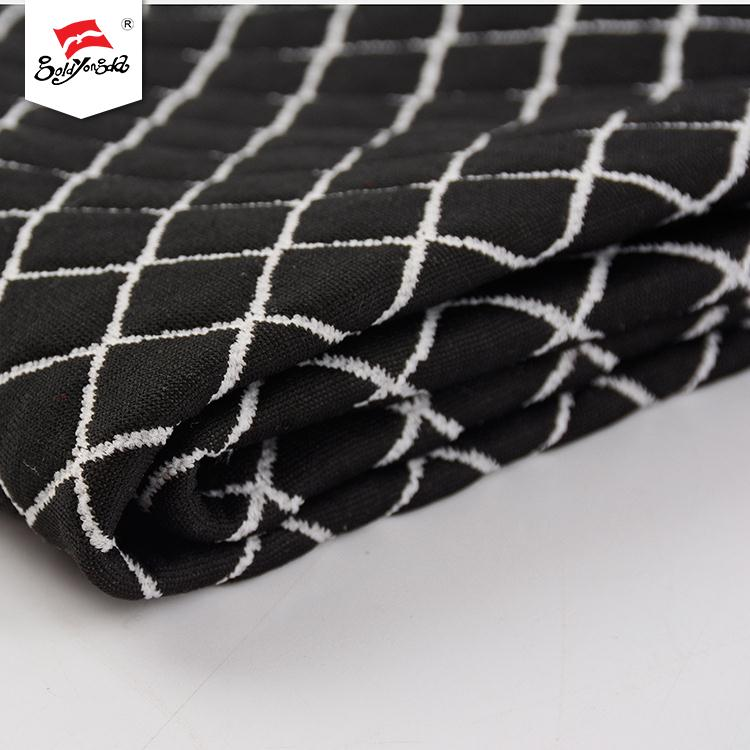 Not monotonous high-comfort price per meter jacquard polyester spandex fabric for dress