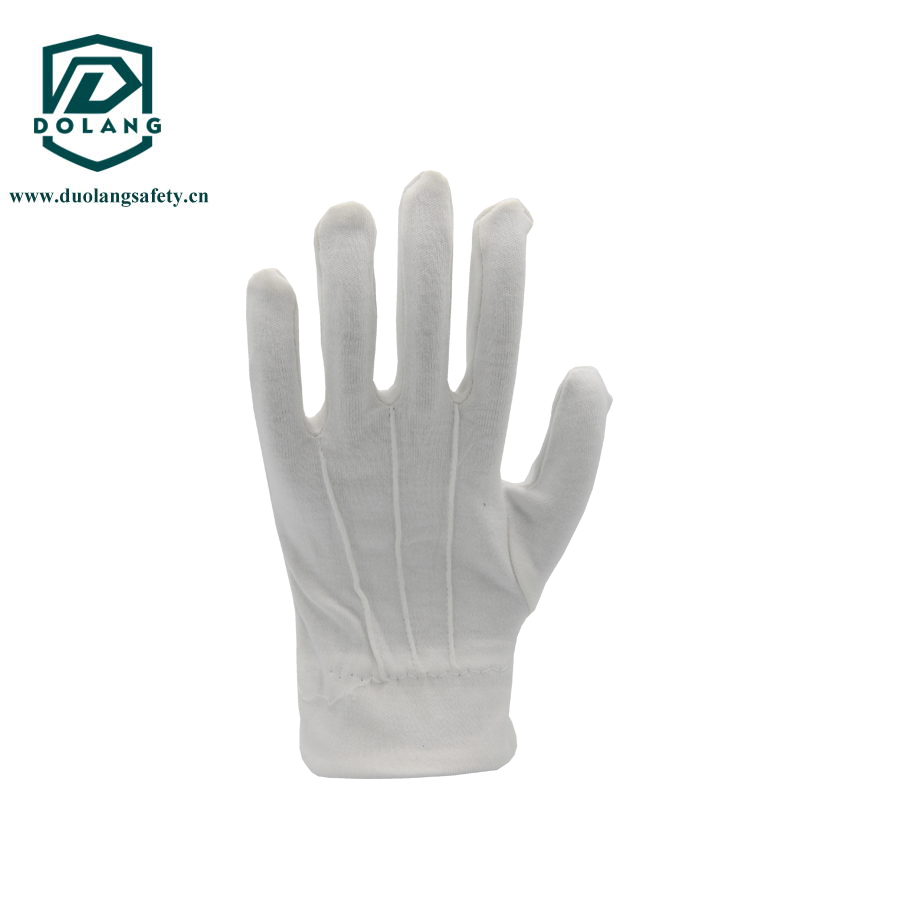 white cotton ceremony glove with stiches lines on back With Great Low Price