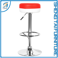 Office swivel adjustable stool bar chair with footrest