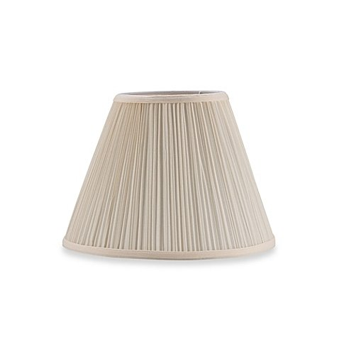 Upgradelights 10 Inch Eggshell Pleated Empire Clip on Replacement Lampshade (6x10x7.5)