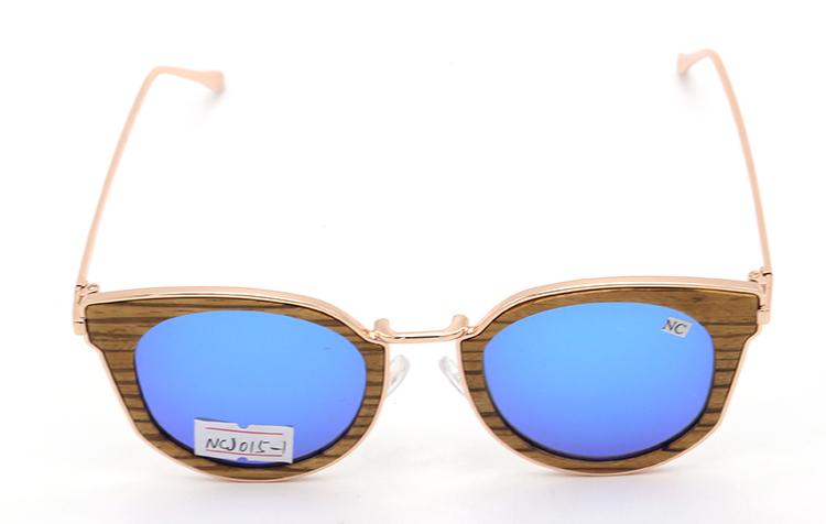 Modische polarisierte sonnenbrille metall bambus holz sonnenbrille männer frauen