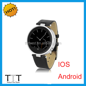 Anti-lost alert genuine leather strap Sync SMS band watch smart phone bluetooth