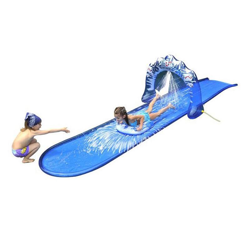childrens kids soak n splash 500cm aqua garden water slide spray sprinker pool toy in inflatable. Black Bedroom Furniture Sets. Home Design Ideas