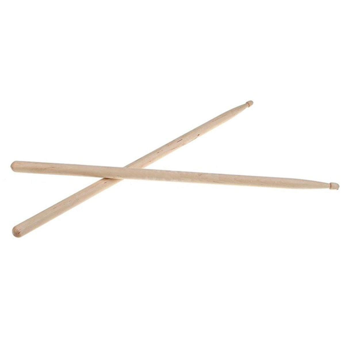 SODIAL 1 pair Percussion Accessories Band Stick Musical Design Lightweight For Drum Drumsticks Maple Wood Drum Sticks 7A