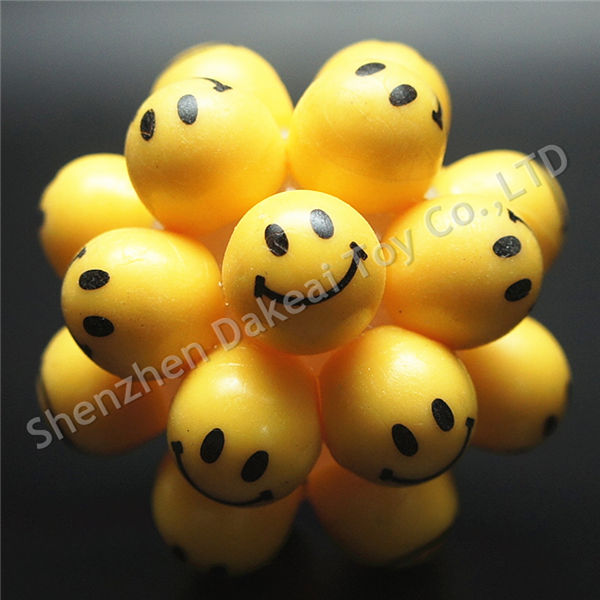 Smiley Cluster Ball High Bouncy Ball with happy emotions