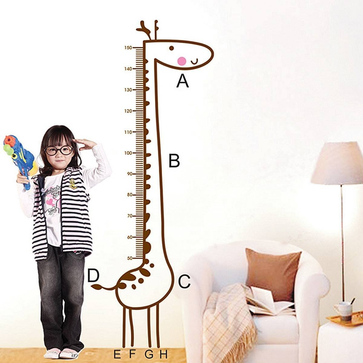 Cheap height chart wall find height chart wall deals on line at get quotations saver giraffe wall stickers kids children room growth chart height decal measure removable home decoration geenschuldenfo Image collections