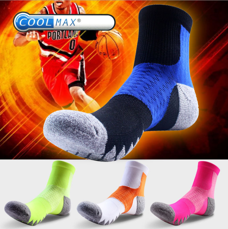 Winter new coolmax outdoor sports socken antibakterielle deodorant quick dry kletter socken basketball socken großhandel LYFS076