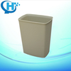 8L grained fireproof price medical hospital square waste bin hotel room dustbin