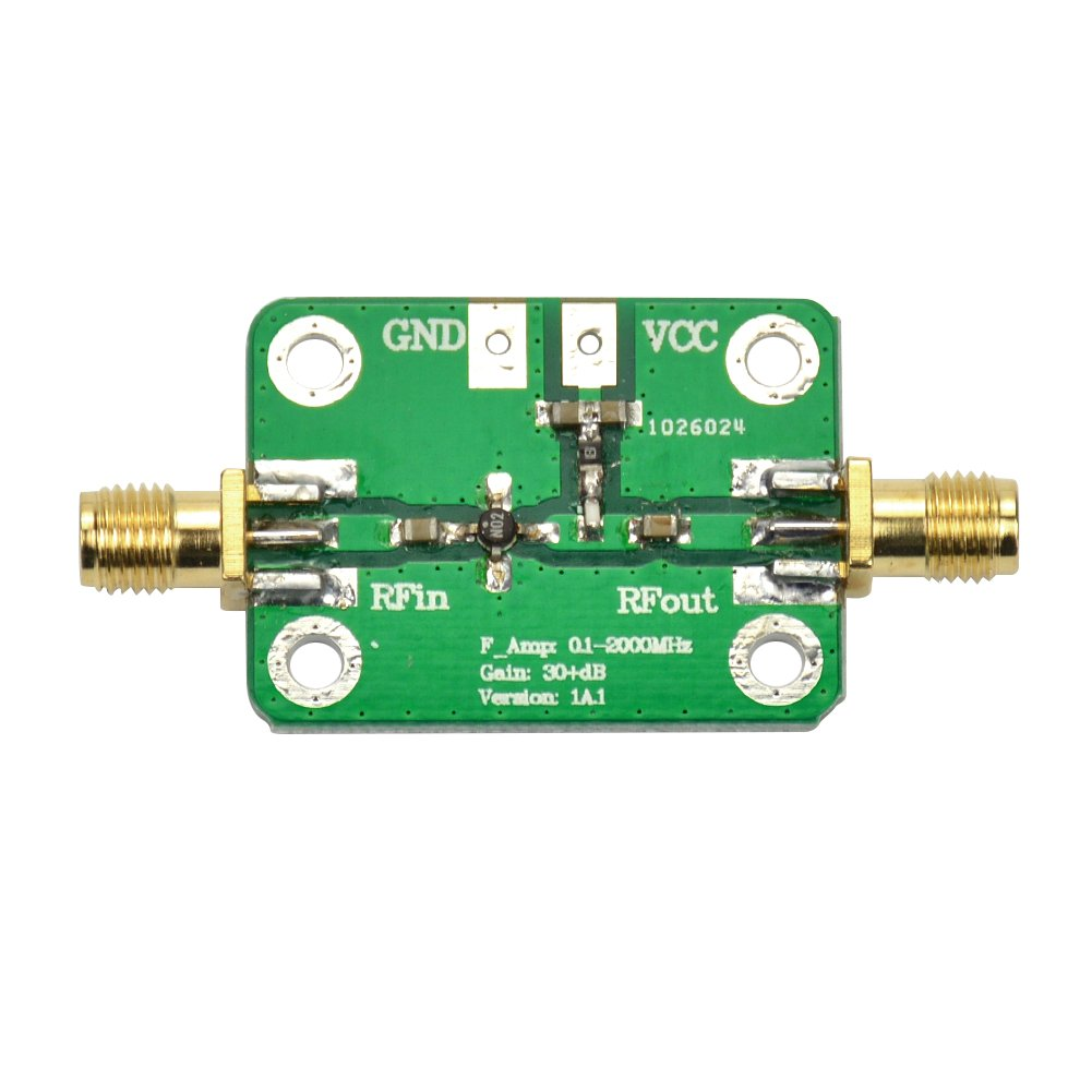 AOSHIKE DC 6-12V 0.1-2000MHz Low Noise LNA Broadband RF Receiver Amplifier Signal Amplifier Module Gain 30dB