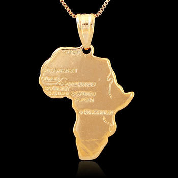 Hiphop africa necklace gift silvergold color pendant chain hiphop africa necklace gift silvergold color pendant chain wholesale african map men aloadofball Images