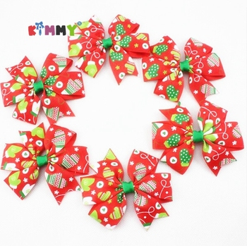 Christmas Pinwheel Headdress Ribbon Hair Bow With Metal Clip - Buy Hair Bow With Metal Clip