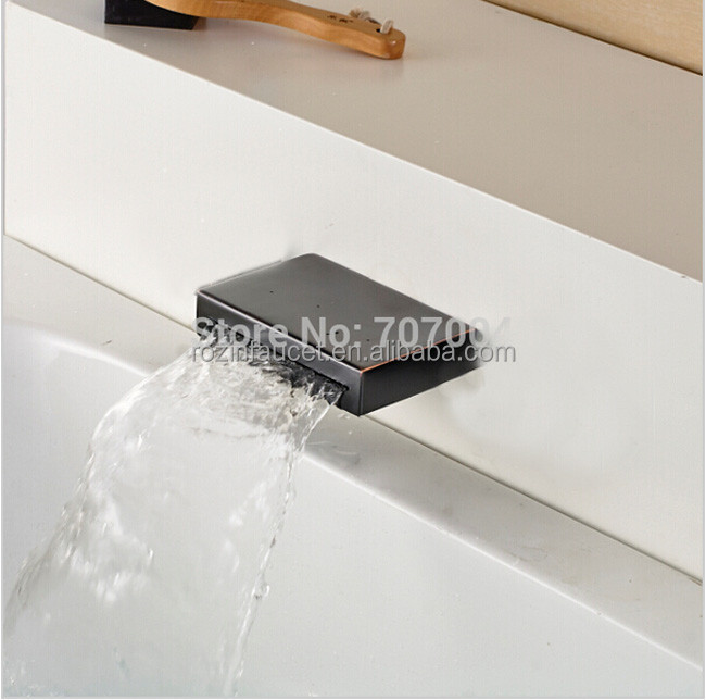 Free Shipping Wall Mount Waterfall Bathroom Faucet Spout NO Switch - Oil-rubbed Bronze