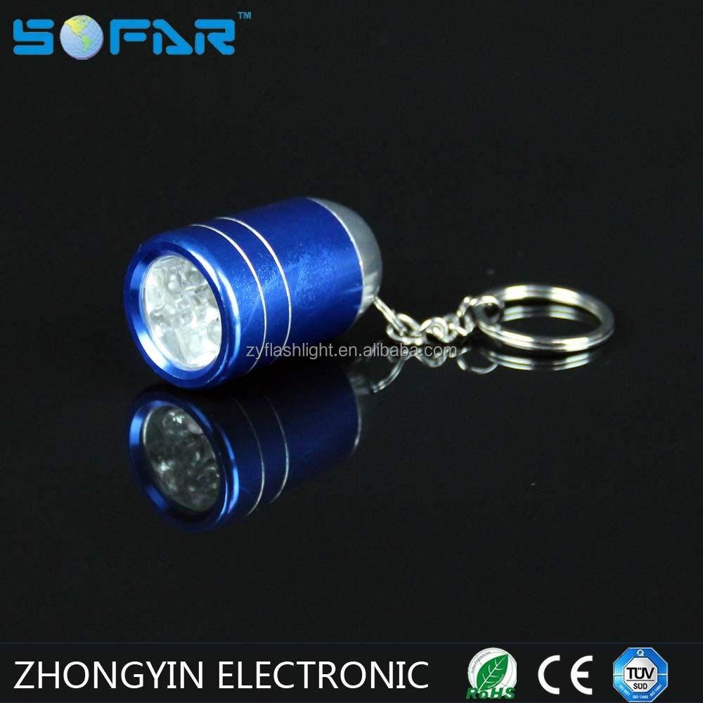 Super Bright MINI Torch Light Egg Shape 6 LED Key Chains For Promotion Gifts