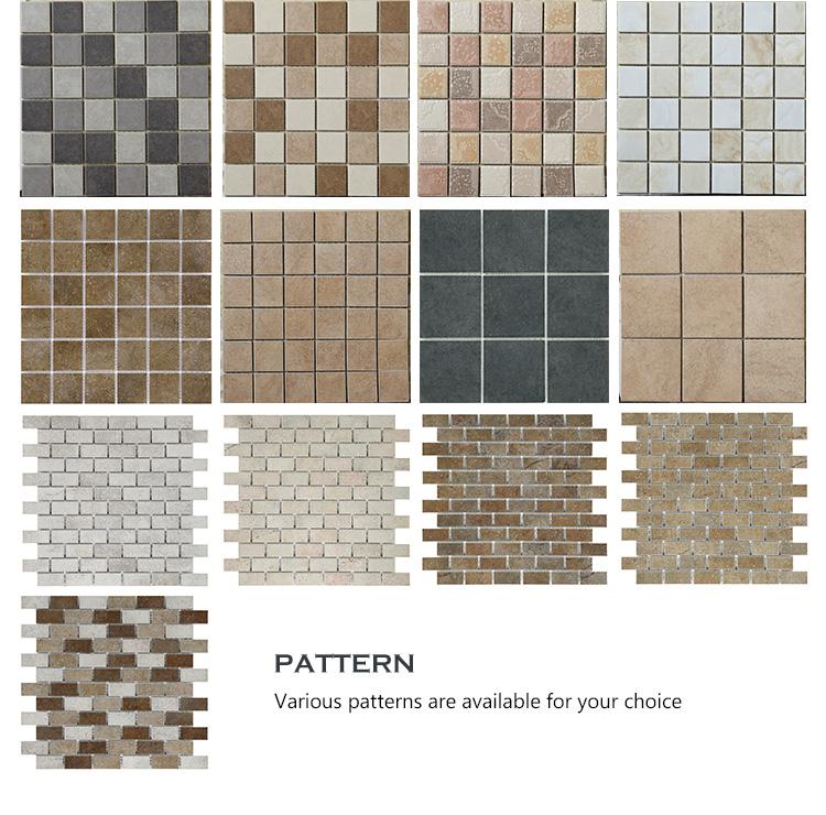 Foshan Brand Name Ceramic Mosaic Floor Tile Pattern Flooring Non