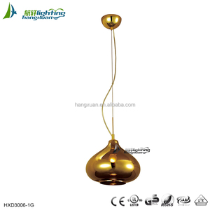 Bar decorative glass pendant light fixture gold pendant designs men HXP3006C-1GO