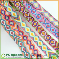 Embroidery Jacquard Ribbon various color diamond