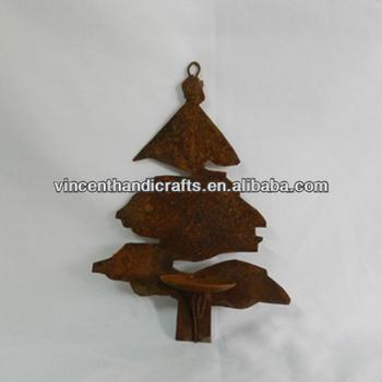 Weihnachtsbaum Kerzenhalter.Vintage Rostigen Metall Weihnachtsbaum Design Wand Hängen Kerzenhalter Buy Wand Montiert Votiv Kerzenhalter Weihnachten Zinn