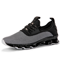 Latest design of mesh upper sport shoes for men flexible soft casual shoes anti-slip running shoes