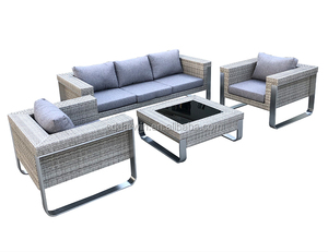 Luxury High Quality Outdoor Furniture Garden Rattan Wicker Sofas Lounge Sofa Set
