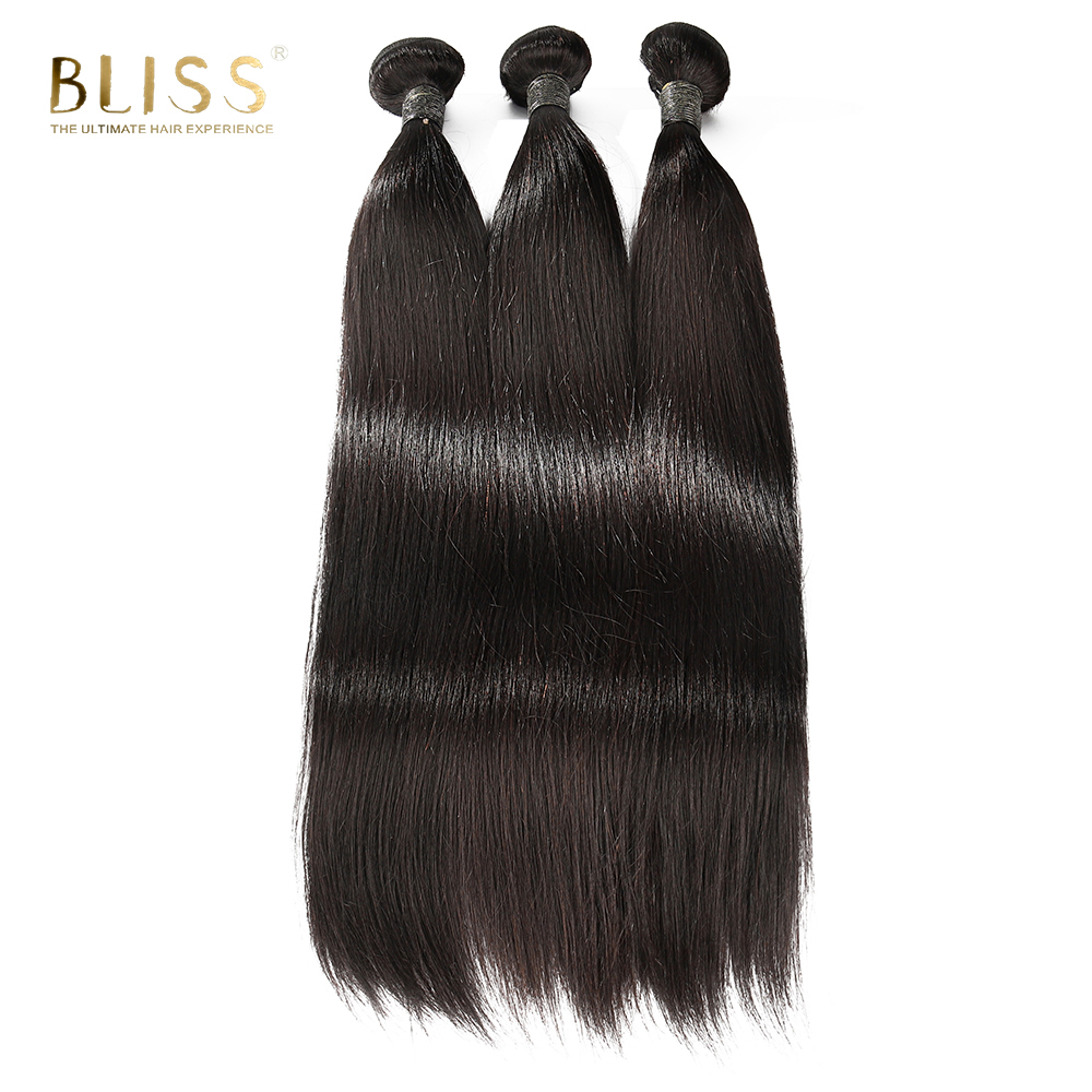 Bliss Hair Straight 8A Grade Cuticle Aligned Human Hair Weave Bundles Virgin Brazilian Hair In Guangzhou, Natural color without processing