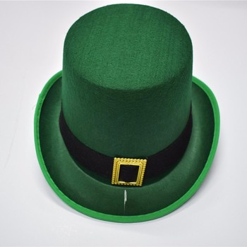 st patrick's day steampunk slash green felt top hat for sale
