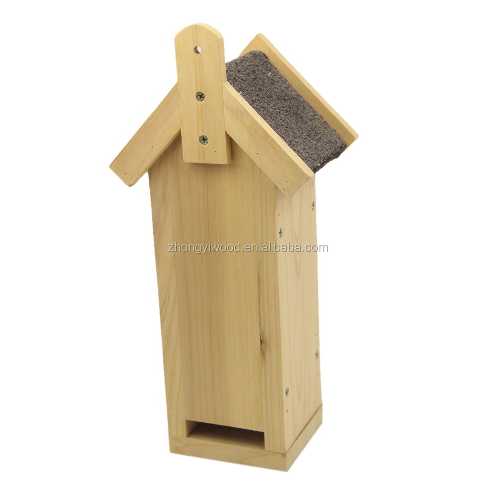Wholesale handmade Unfinished Hanging wooden Bird feeder