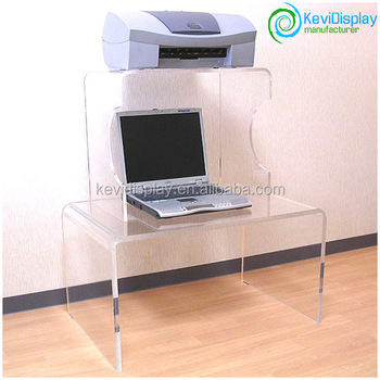 Two Layers Clear Acrylic Computer Desk With Compeive Price