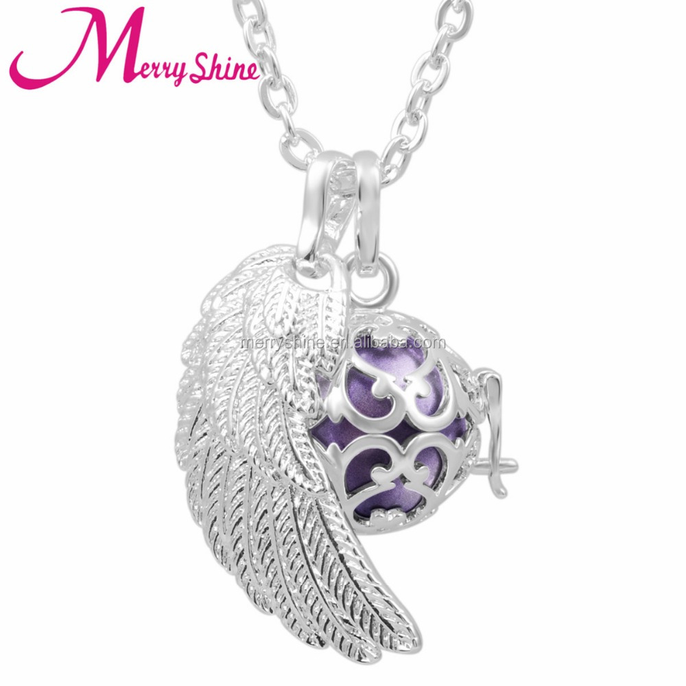 Factory Price Angel Wings Musical Bola Baby Chime ball Harmony Bola Ball Sterling <strong>Silver</strong>
