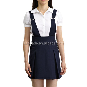 School uniform manufacturers high quality junior high school uniforms suspender skirt