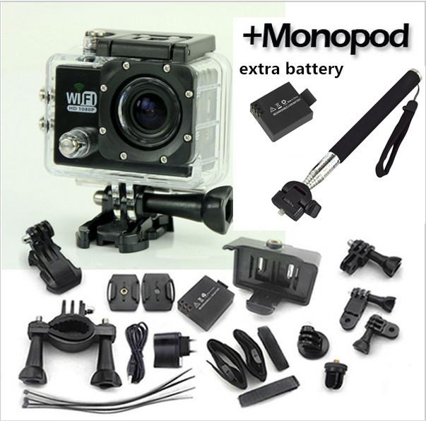 Оригинальный SJ6000 wi-fi 30 м водонепроницаемый спорт DV действий камеры 14MP Full HD 1080 P 30FPS 2.0