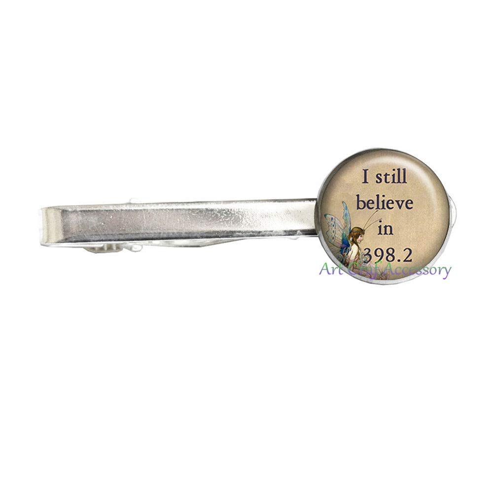 095ec5482554 Get Quotations · I Still Believe in 398.2 Fairy Tale Tie Clip, Fairy  Jewelry Librarian Gift, Valentines
