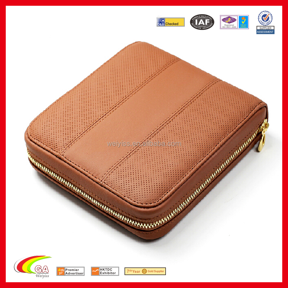 Hot Selling Black Leather CD Case with Zipper, PU Leather Carrying Car CD Case Bag with Zipper