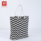 Black White Tote Bag Customized Print Canvas Hand Bag