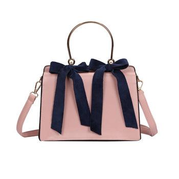 e5659823c6 Newest Elegance Women Shoulder Bag Crossbody Messenger Bags Young Lady Handbag  With Golden Velvet Double Bow