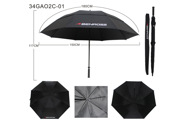 68 Inch Size Promotional Golf Umbrella Double Canopy Manual Open Sc 1 St Alibaba