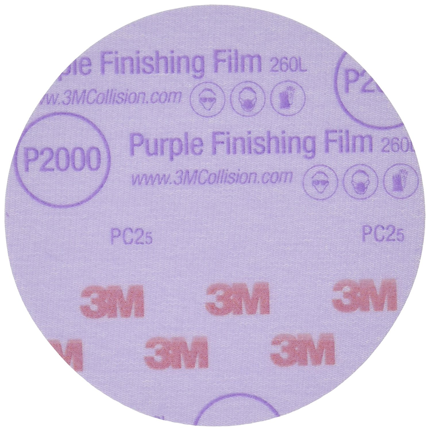 3M(TM) Purple Finishing Film Hookit(TM) Disc, 30566, 5 in, P2000, 50 discs per box [You are purchasing the Min order quantity which is 4 Box]