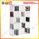 Clear acrylic wall mount dvd cd display rack