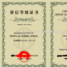 anti-counterfeit leather cover logo stamping working certificate