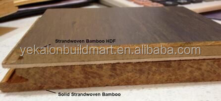 New Best Engineered Timber Solid Strand woven Bamboo HDF Flooring Carbonized
