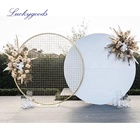 LDJ1004 Wedding Backdrop circle round white wedding arch metal for wedding decoration stage