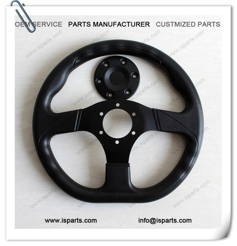 Go Kart Racing Kart Steering Wheel Black 330mm Diameter
