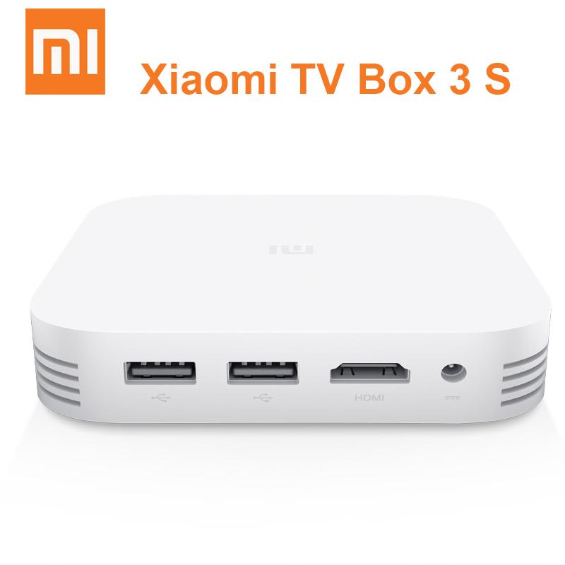 Original Xiaomi TV Box 3 3S Pro Smart 4K HD MiTV MiBox 3S 2G 8G Dual