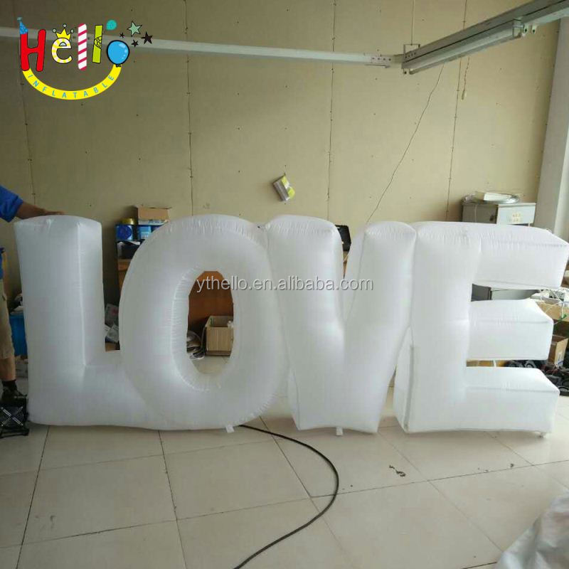 Inflatable Led Love Letter Lights Giant Unmber Words Life Size Alphabet For Party Decoration